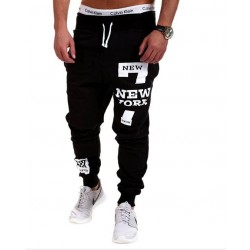 Hot Promotions fitness pants hip-hop NEWYORK letter printing design mens casual pants, mens pants