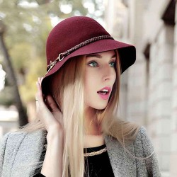 Fall Winter new style ladies hat ladies hat with disabilities fine wool hat Ms. Material discount