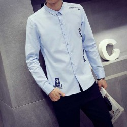 Autumn new style men's long-sleeved linen shirt printed cotton men's shirts shopkeeper wind single low price yards