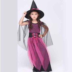 Childrens Halloween costume holiday costume witch Cosplay Kids yarn skirt suit fast delivery
