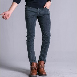 Fall Winter new style mens jeans, mens pants, pencil, pencil pants Slim Mens gray trousers tide