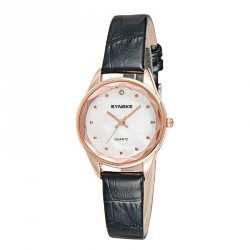 Pop's new material quartz watch ladies fashion models with leather fashion watch girl watch