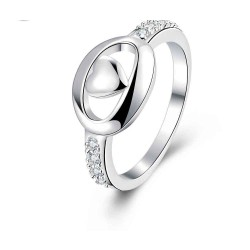 Discount fashion design jewelry fashion personality Europe and the United States market Creative smooth silver ladies ring