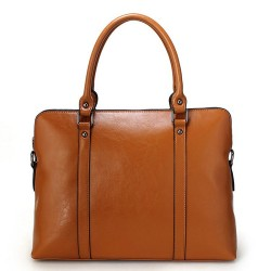 New winter lady leather bag big bag business leather briefcase portable 14-inch computer bag lady discounts
