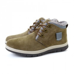 Fast shipping winter plus cotton men's leather casual shoes high shoes warm and comfortable shoes