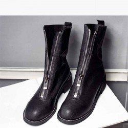 Popular autumn and winter new style lady boots discount fashion leather boots flat boots to quality assurance