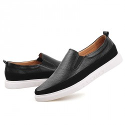 Fast delivery Men's leather shoes first layer of leather material loafers simple fashion casual shoes