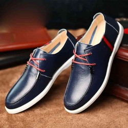 Fast delivery new style men's shoes lace men's shoes head layer cowhide leather suits business shoes breathable men's shoes