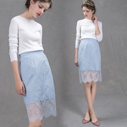 High-low price beautiful spring and summer new style skirt fashion with a small blue custom new style discount