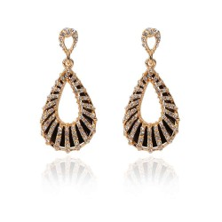 Drop shape earrings minimalist temperament exaggerated the European market and the US market earrings long style earrings discount jewelry