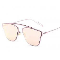 0745 trend personality reflective sunglasses glasses sunglasses metal material discount new style sunglasses 186