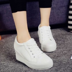 Low price summer new style ladies shoes wedge platform shoes breathable casual shoes student shoes