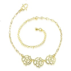 Creative flower shape gold-plated hollow beach anklets foot showcase personality simple retro hot sales promotion