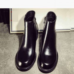 Spring and autumn and winter new models in Europe and the United States market trends Ms. leather flat boots low to help Ms. Martin boots single boots Quality Assurance