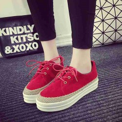 Contact the Department of heel thick autumn new style colorful thick heel loafers round with students to help low Ms. leisure sports shoes