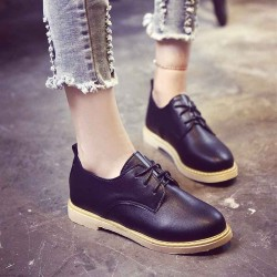 Autumn British style casual shoes white wind round lace shoes to help low student flat shoes lady flat shoes
