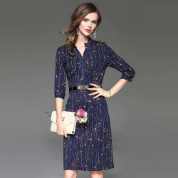 Autumn popular new models in Europe and the US market, international brands of high-end women's dress fast delivery