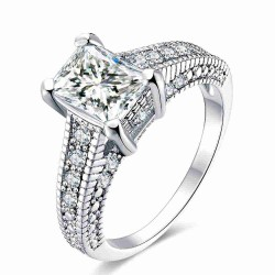 Europe and the US market selling platinum Miss Fang Zuan Ring