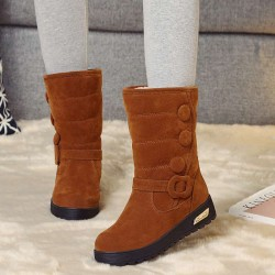 European market and the US market high-top boots new style winter SHOES with Ms. Ms. thick snow boots shoes thick round flat bread Ms. cotton boots