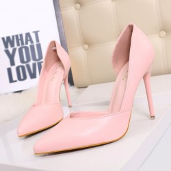 3168-3 stylish simplicity Slim sexy nightclub ladies shoes fine with high with dew instep pointed high-heeled shoes hollow