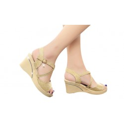 Cross with high with slope with toe female sandals