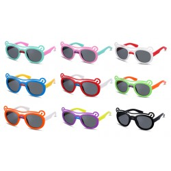 Kid's Sunglass Polarizer Bear Models Round Sunglass Full-Rim